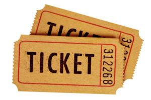 2枚のチケット