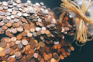 大量の硬貨