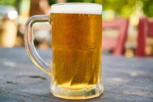 冷えた生ビールの写真