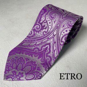 紫色のエトロのネクタイ