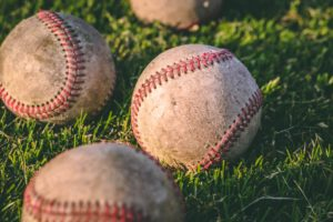 複数の野球ボール