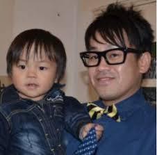 宮川大輔と息子の写真