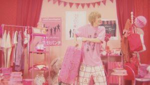 ピンクの服を着た末吉9太郎