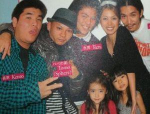 横井里茉が幼少期の頃の家族写真