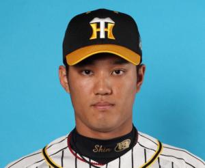 阪神タイガースのユニフォームを着た藤浪晋太郎