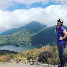 登山中の川田裕美