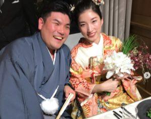 横井健人とはっちゃんとの結婚式の写真