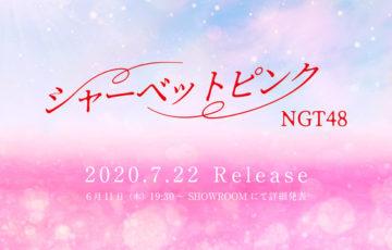 NGT48の新曲、シャーベットピンクのイメージ画像