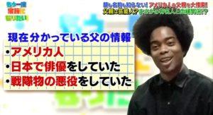 副島淳の父親の手がかりを表示した画面