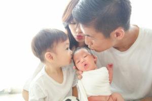 福田晃斗と嫁と子供