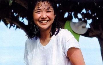 Tシャツ姿の若い頃の宮崎美子